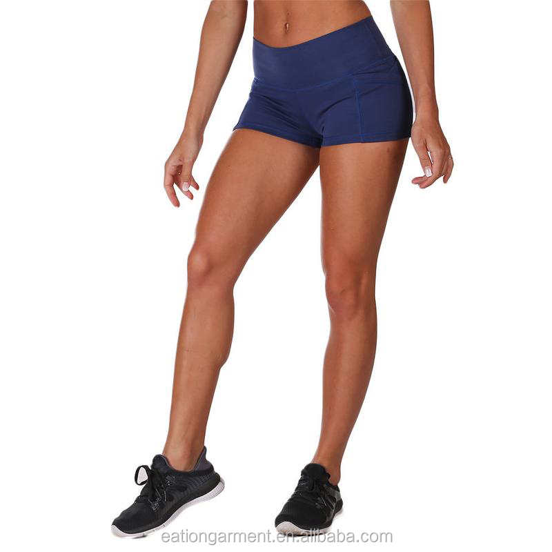 Womens yoga short for running wholesale OEM gym shorts