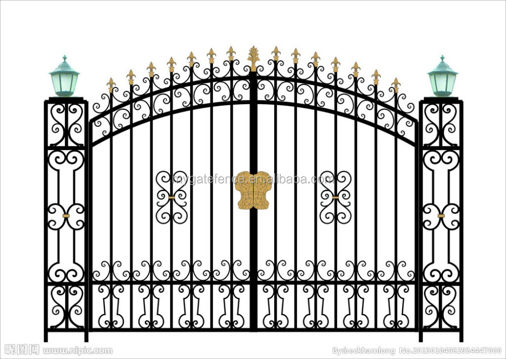 top 10 best seller simple decorative swing sliding philippines metal gate parts factory wrought iron main gate design for homes
