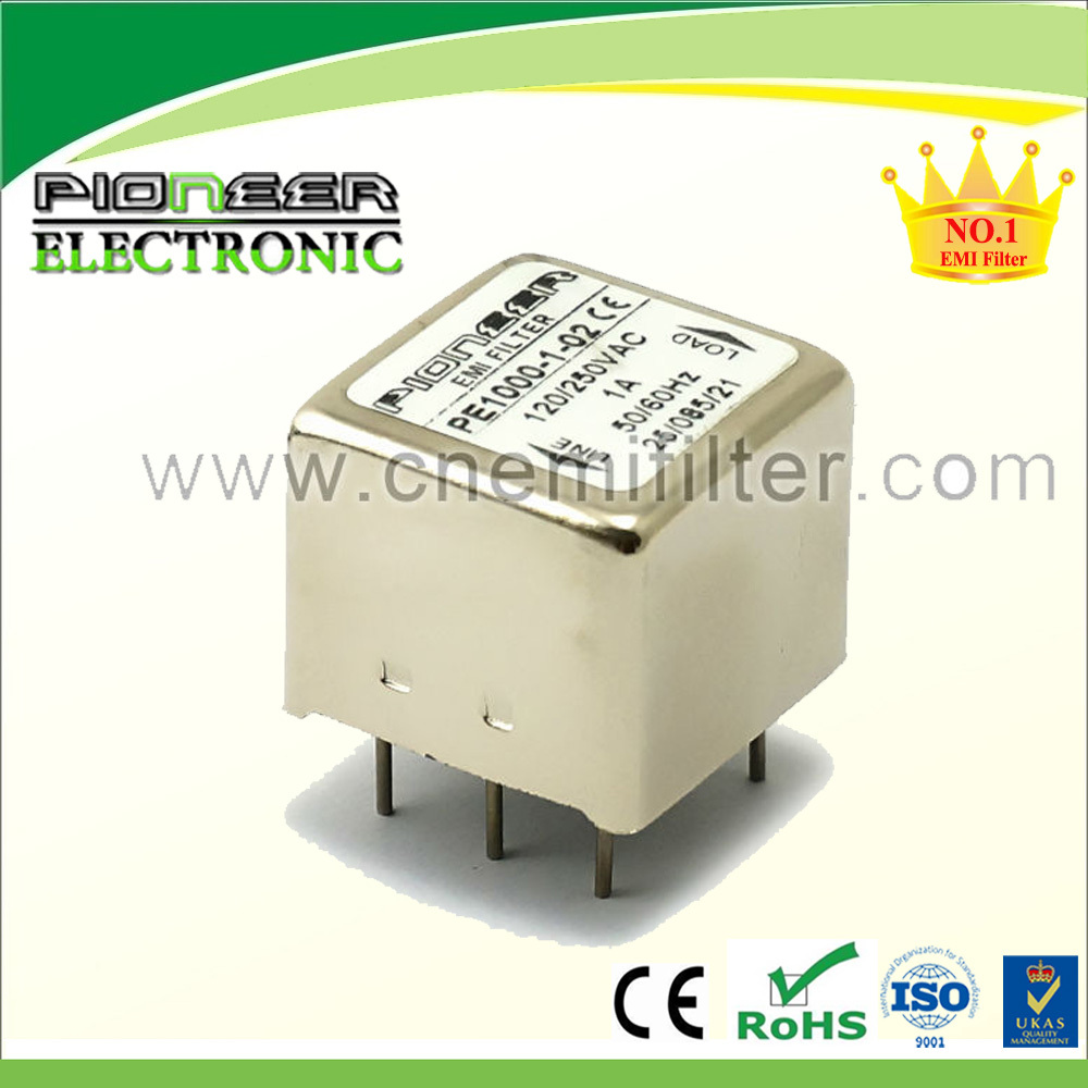 PE1000 120/250VAC 1A~10A PCB noise filter for exchange machine