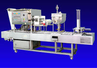 Automatic Cup Filler 3 Heads: automatic cup feeder-filler-sealer