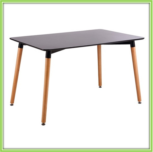 Modern dining room furniture MDF top wood legs dining table