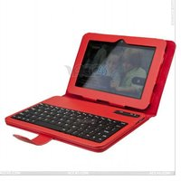Plain Leather Case With Bluetooth Keyboard for AMAZONE Kindle Fire HD 7.0 P-KINDLEFIREHD7CASE005