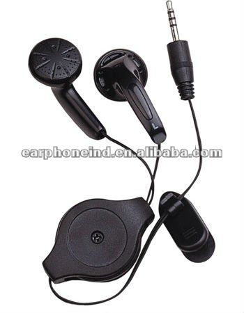 WF-151R Stereo Earphone with Retractable Case