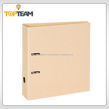 Recycle Kraft Paper Lever Arch File,Cardboard Storage Box,Paper Plastic File Folder