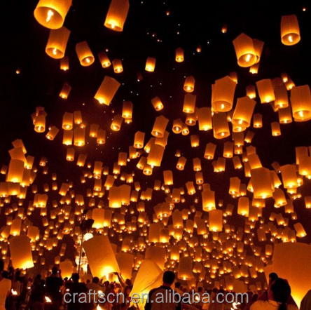 Chinese sky lanterns wish balloons