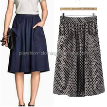 New product's female literary van big pocket skirts fashion 2015 comfortable dress