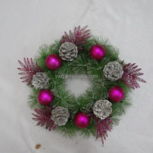 Colors hot selling christmas wreath door hanger for front door