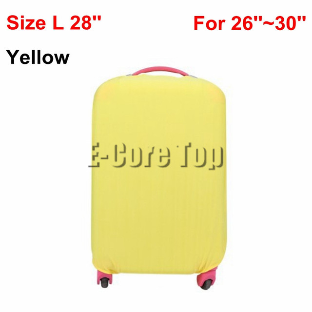 Korean Stylish Candy Color Luggage Suitcase Cover Apply to 18''~30'' Cases Comfort Carrier Cover Size S/M/L High Elasticity