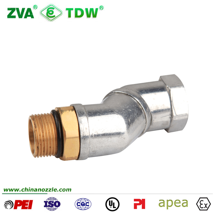 Flexible fuel hose coupling swivel joint for hose to hose connector