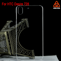 2015 new plastic mobile phone case cover For HTC Desire 728 PC case blank transparent crystal clear cell phone case mobile cover