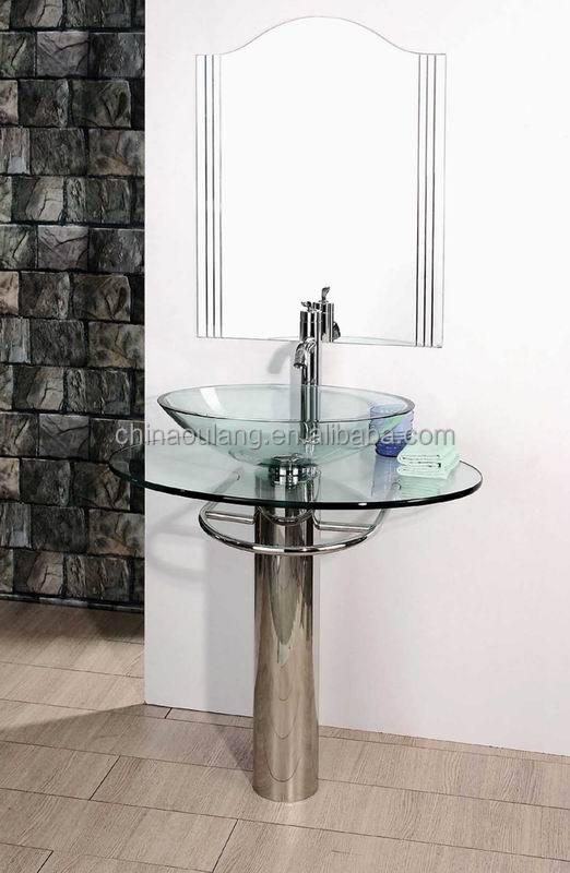 Cheap stainless steel shelf glass wash basin bathroom for Wash basin mirror price