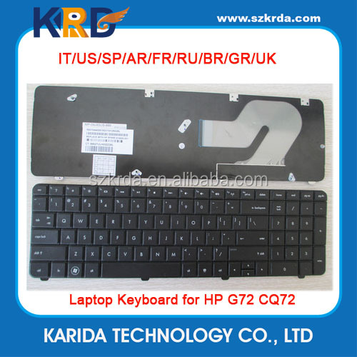 US UK SP LA IT RU AR FR BR Keyboard for HP G72 CQ72 laptop notebook keyboard