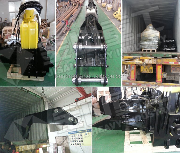 High quality Bridge pile foundation excavator used hydraulic vibro pile hammer