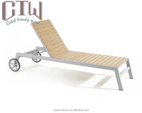 CTW Outdoor Poly Wood Lounger/ Plastic Garden Chaise Lounge