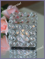 Beautiful Crystal Square votive candle holder for wedding table decor