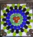 glass mosaic pebbles