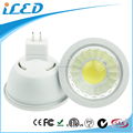 CE RoHS approved Dimmable 650lm 7W 12V COB Spotlight MR16 LED Bulb Warm White
