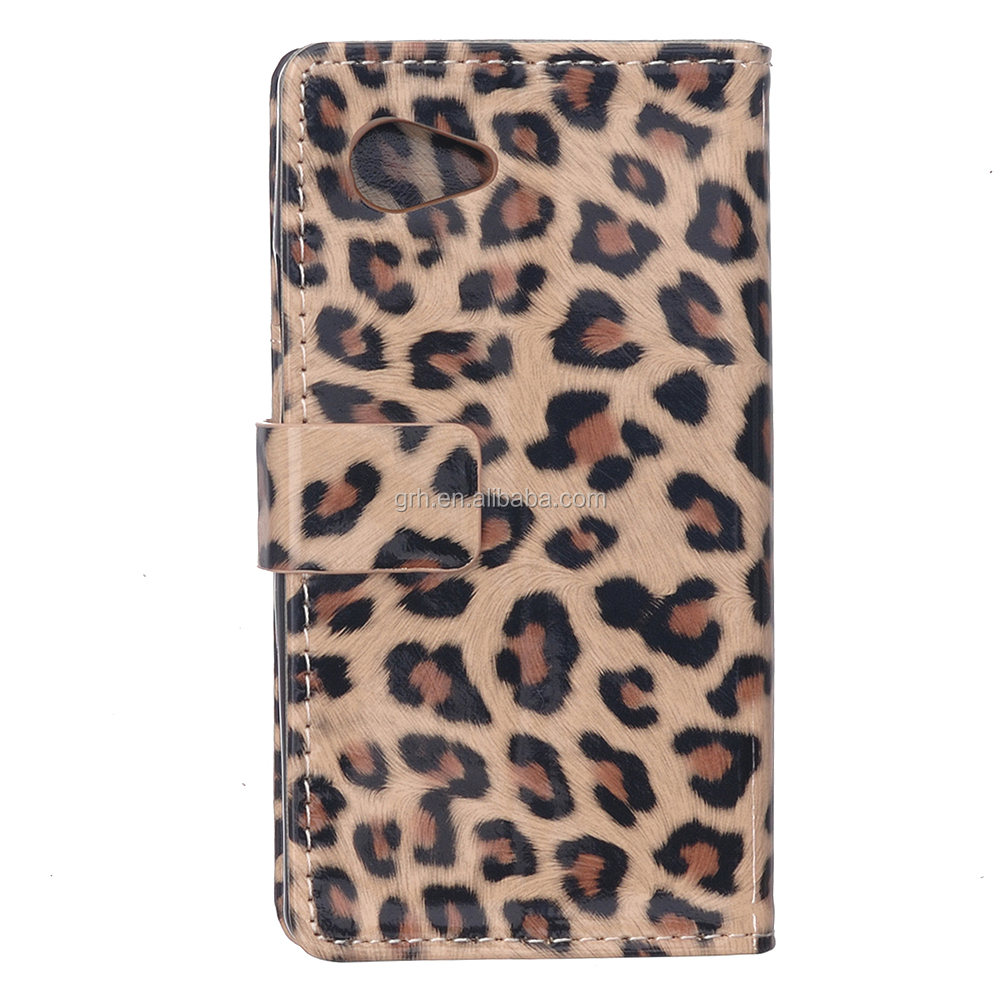 leopard leather case #2 for Sony Xperia E5