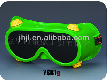 Green frame with yellow valve Welding Goggles