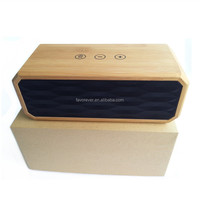 Favorever 3D surround sound High Quality OEM Professional Mini Portable Wooden Wireless Bluetooth Speaker
