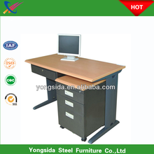 Steel office desk with locking drawers/metal furniture used computer desk