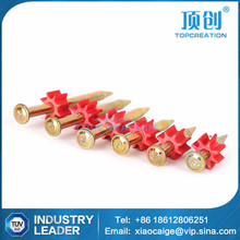 screw factory supply 42mm galvanized concrete nail shooting nails with red buffer circle
