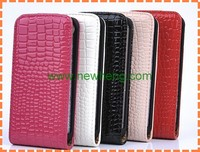 New Design Wholesales Crocodile Grain Leather Case For iPhone5