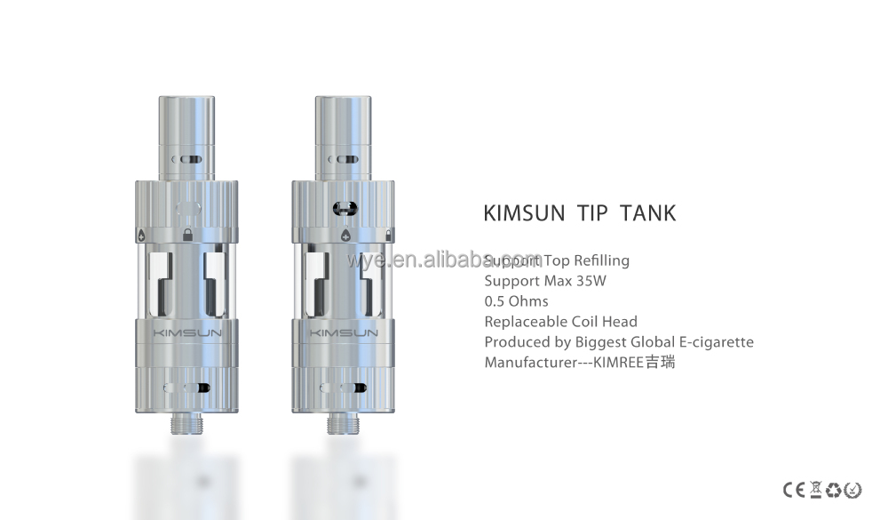 Wholesale Gold Quality Front Vaporizer MOD Clearomizer TIP TANK