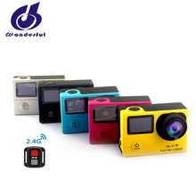 Mini Waterproof 1080p wifi sports camera with remote control