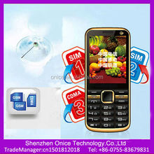 2.8inch touch screen triple sim card mobile phone C5-D GSM900/1800MHZ CDMA800MHZ three sim cards mobile phones