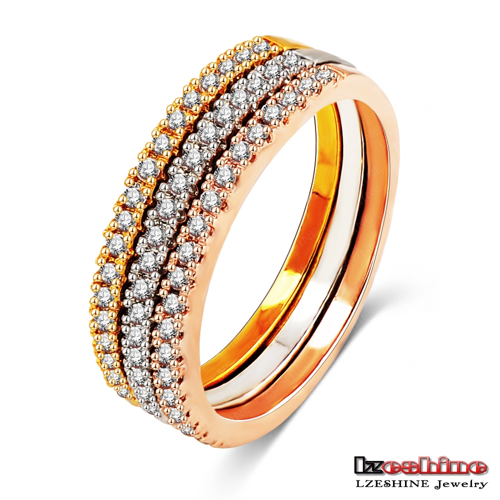 3 in 1 Saudi Arabia Mens Gold Wedding Ring Sets Metal Jewelry Model CRI0195-A