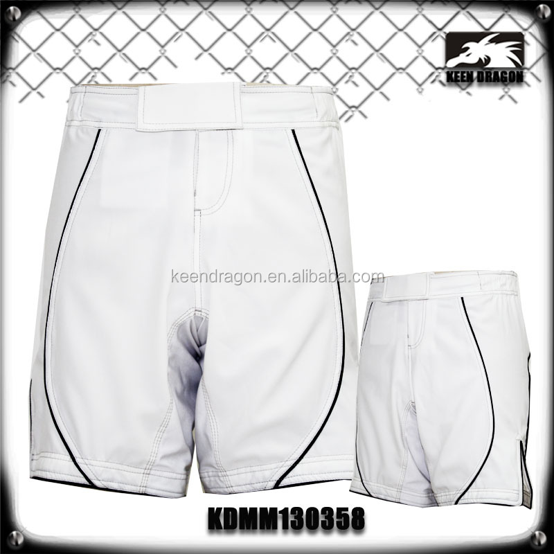 Martial Arts Apparel Blank White MMA Fight Wear Shorts Accept Paypal