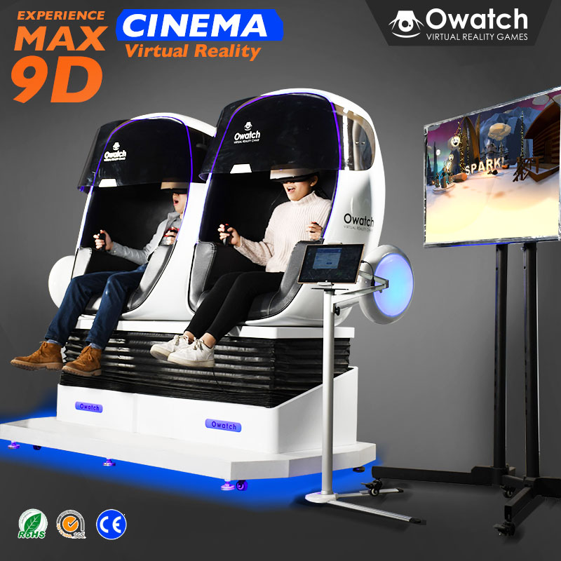 Owatch Awesome Theme Park Rides 9D VR Cinema Egg Chair Virtual Reality Simulators