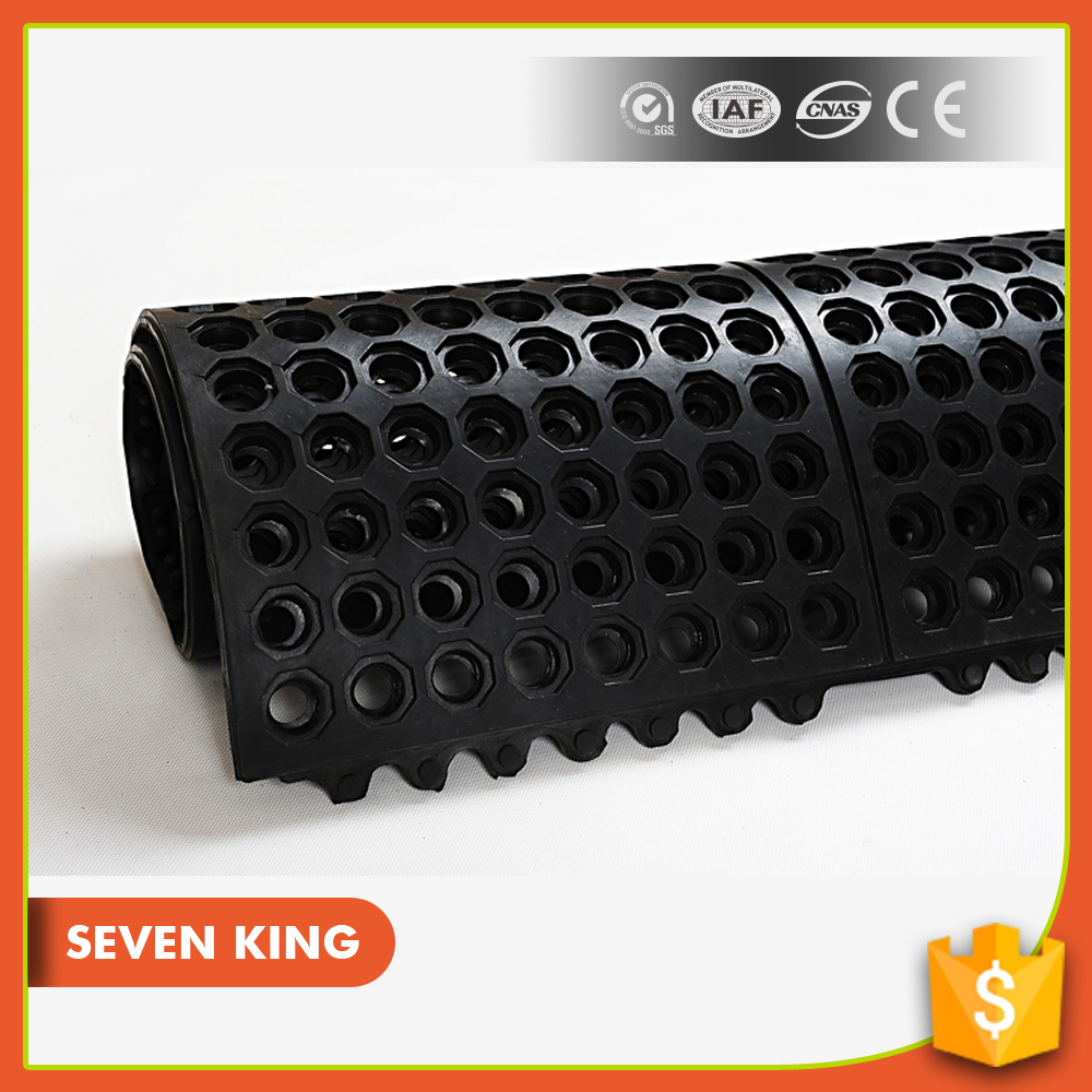 rubber bathroom perforated floor rubber mats