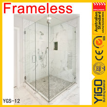 tempered glass shower cabin / glass shower door towel bars