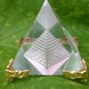 DECORATION Pyramid With Golden Stand MH