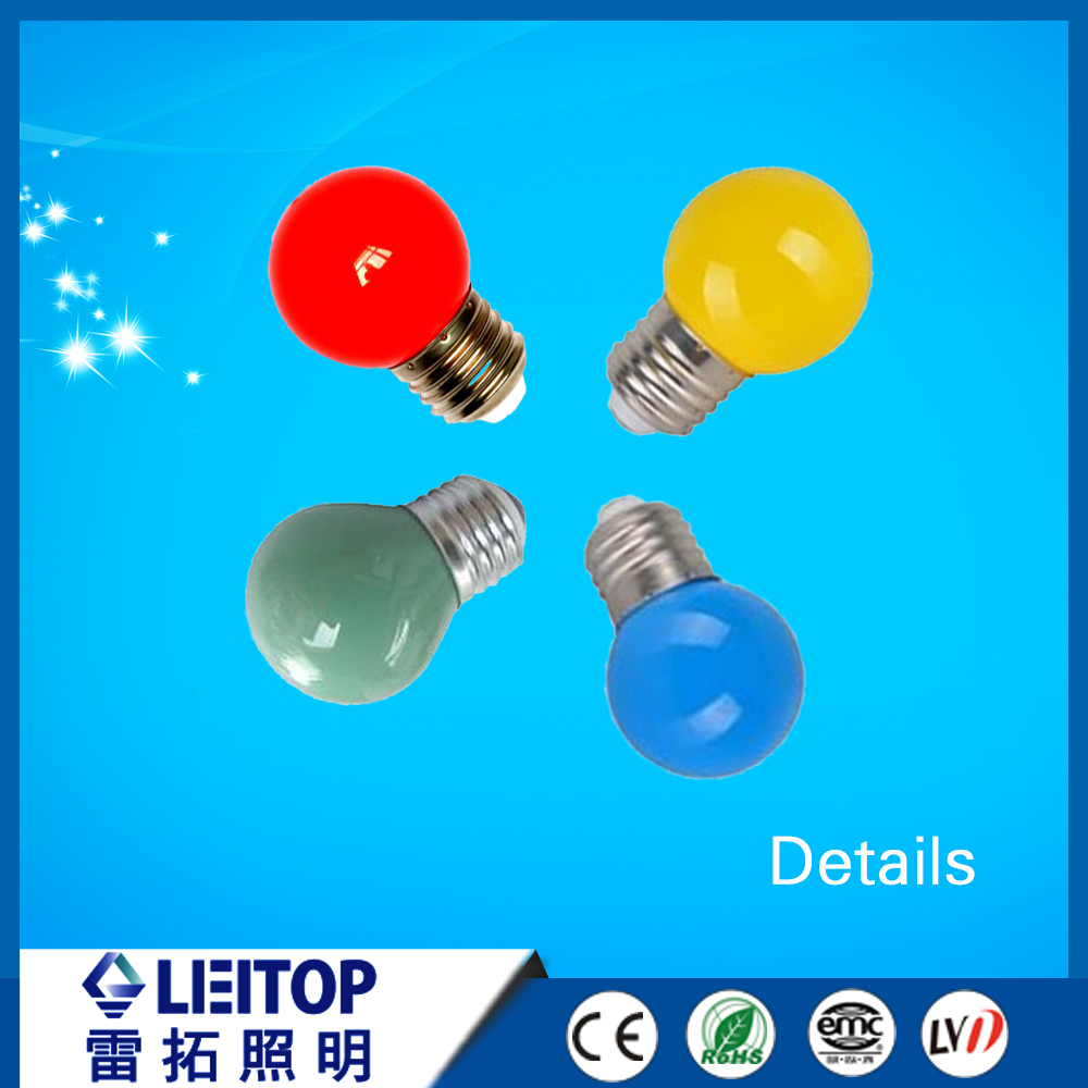 0.5w 1w led light red yellow blue green decoration bulb with cheap price