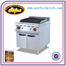 Commerciall gas bbq grill for kitchen equipment gas lava stone grill