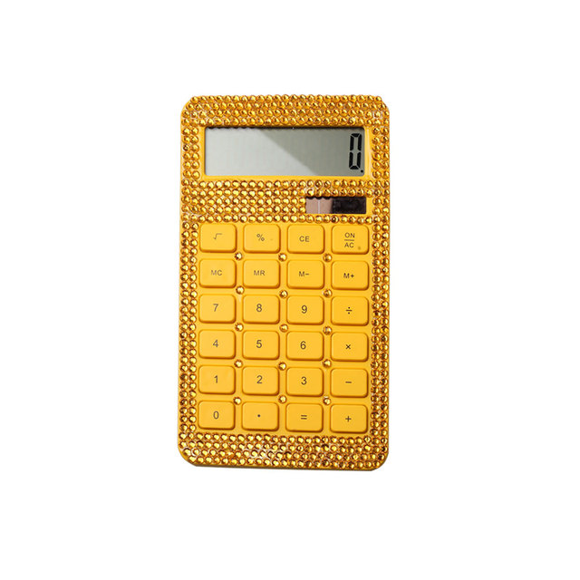10 Digit High Quality Office Gift Sets Diamond Crystal Solar Calculator