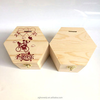 Lovely Wooden Box For Money Pot