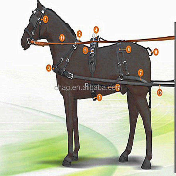 Nice Quality Pvc Horse Harness For Single Horse Carriage