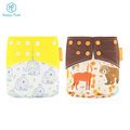 Discount price Happy Flute OEM pocket character printed cloth diaper add one insert