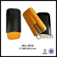 Promotional leather gift packaging cigarette Case