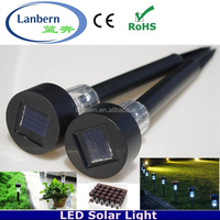 2016 customized pattern Plastic outdoor decoration led solar garden lawn light low voltage JD-113A