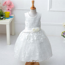 2016 hot selling white children girls lace dress with best price