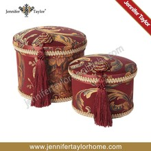 Chinese Style Jacquard Fabric Jewelry Storage Box with Traditional tassel