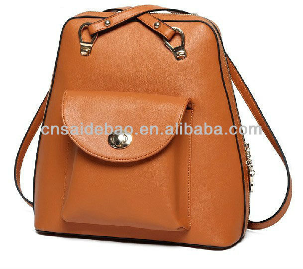 Leather leisure lady backpack