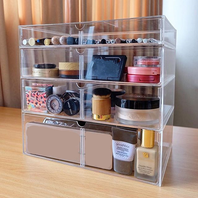 18 years experienced factory supplied clear acrylic makeup drawer storage box
