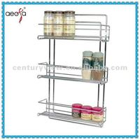 Hand Made Chromed Metal Decorative Spice Rack