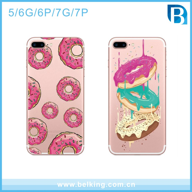 Color print Donuts ultra slim tpu cell phone case cover for iphone 5 6 6plus 7 7plus